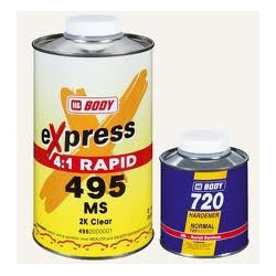 KIT BARNIZ RAPIDO 495 BODY EXPRES + CATALIZADOR 250 ml.